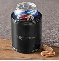 Personalized Black Metal Koozie
