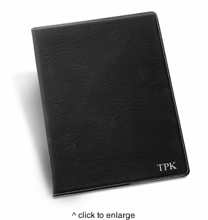 Personalized Black Portfolio with Notepad - click to enlarge
