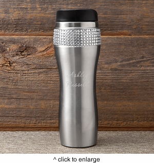 Personalized Bling Travel Tumbler - click to enlarge
