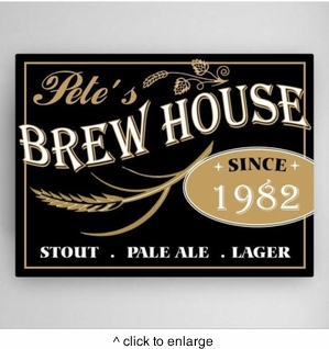 Personalized Brew House Canvas - click to enlarge