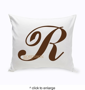 Personalized Calligraphy Monogram Throw Pillow - click to enlarge