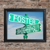Personalized Color Street Sign Framed Print - click to enlarge