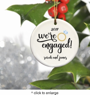 Personalized Couples Ceramic Christmas Ornaments - click to enlarge