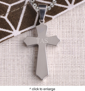 Personalized Cross Necklace Pendants - click to enlarge