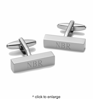 Personalized Cufflink Bars - click to enlarge
