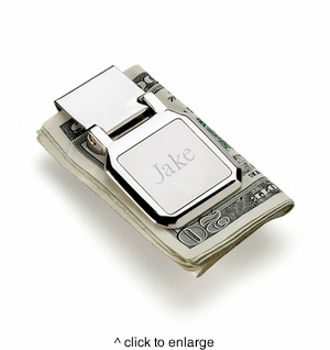Personalized Dalton Folding Money Clip - click to enlarge