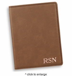Personalized Dark Brown Passport  Holder - click to enlarge