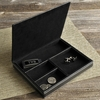 Personalized Deluxe Leather Valet  - click to enlarge