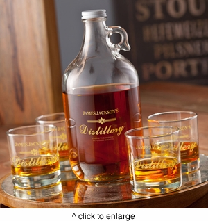 Personalized Distillery Growler Set - click to enlarge