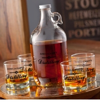 Personalized Distillery Growler Set - Black