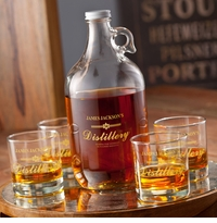 Personalized Distillery Growler Set - Gold