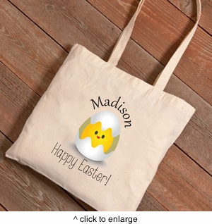Personalized Easter Canvas Bags - Chicks  - click to enlarge