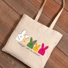 Personalized Easter Canvas Bags - Bunnies - click to enlarge