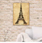 Personalized Eiffel Tower Canvas