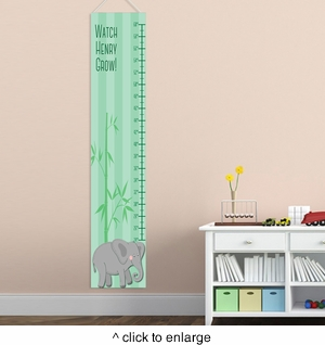 Personalized Boy Elephant Growth Chart - click to enlarge