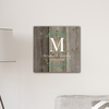 Personalized Family Initial Vine 18x18 Canvas Signs - click to enlarge
