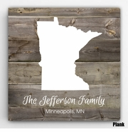Personalized Family State Canvas