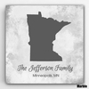 Personalized Family State Canvas - click to enlarge