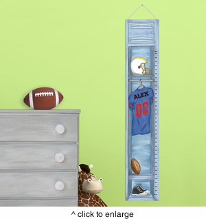 Personalized Football Locker Height Chart - click to enlarge