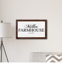 "Personalized Framed Family Farmhouse Modern Farmhouse 14 x 24"" Canvas"