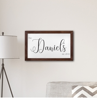 "Personalized Framed Last Name Modern Farmhouse 14' x 24"" Canvas"