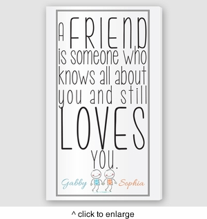 Personalized Friends Canvas Sign - click to enlarge