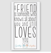 Personalized Friends Canvas Sign