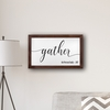 """Personalized Gather Modern Farmhouse 14"""" x 24"""" Canvas Sign - click to enlarge"""