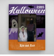 Personalized Ghost and Bat Halloween Picture Frame