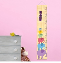 Personalized Girl Elephant Growth Chart