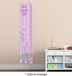 Personalized Girl Elephant Growth Charts - click to enlarge