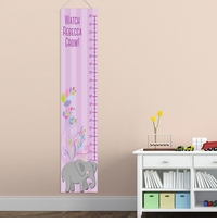 Personalized Girl Elephant Growth Charts