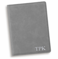 Personalized Gray Passport Holder