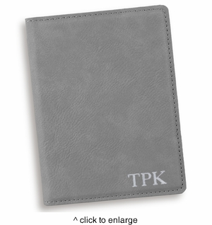 Personalized Gray Passport Holder - click to enlarge