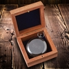 Personalized Gunmetal Keepsake Compass with Wooden Box  - click to enlarge