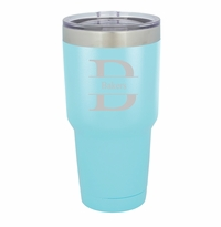 Personalized Húsavík 30 oz. Light Blue Double Wall Insulated Tumbler