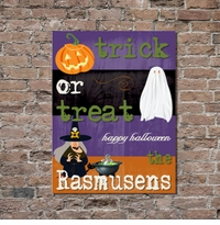 Personalized Halloween Canvas Wall Art