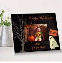 Personalized Halloween Ghost Frame