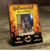 Personalized Halloween Pumpkins Frame