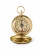 Personalized High Polish Gold Keepsake Compass with Wooden Box  - click to enlarge