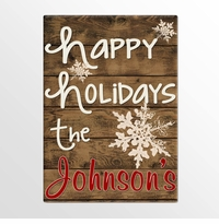 Personalized Holiday Canvas Signs