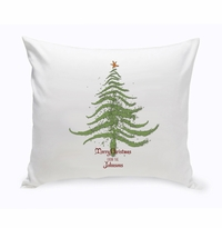 Holiday Throw Pillow - Christmas Tree