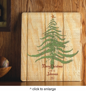 Personalized Holiday Wood Art Sign - Christmas Tree - click to enlarge