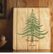 Personalized Holiday Wood Art Sign - Christmas Tree
