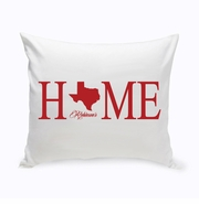 Personalized Home State Throw Pillow