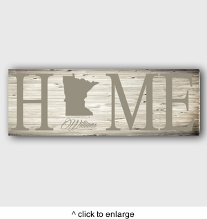 Personalized Home State Canvas  - click to enlarge