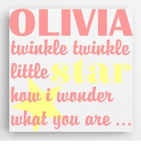 Childrens wholesale personalized gifts gifts for children personalized kids canvas sign twinklegirl negle Gallery