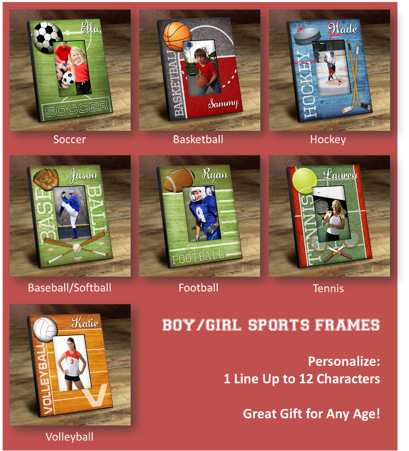 Personalized Kids Sports Frames Wholesale Personalized Gifts