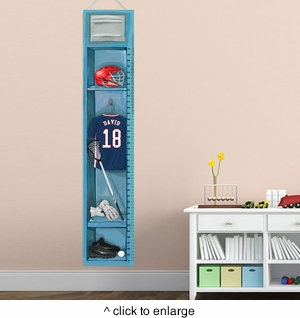 Personalized Lacrosse Growth Chart - click to enlarge