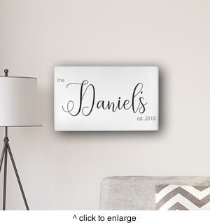 """Personalized Last Name Modern Farmhouse 14"""" x 24"""" Canvas - click to enlarge"""